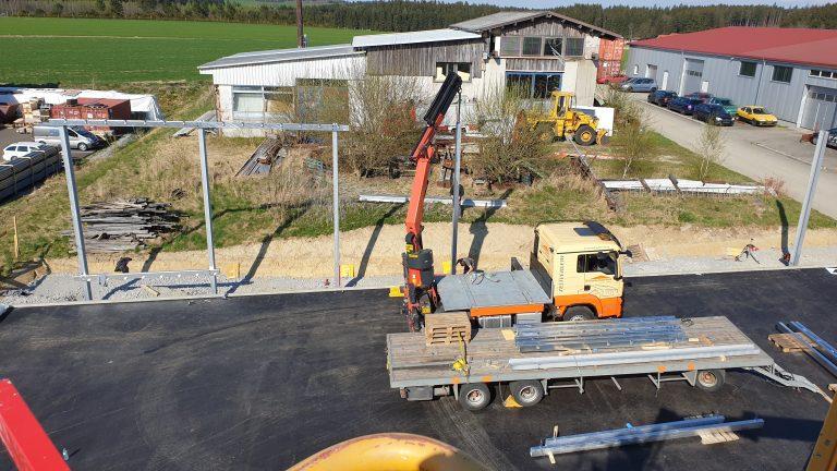 Stahlbau für Sichtschutz